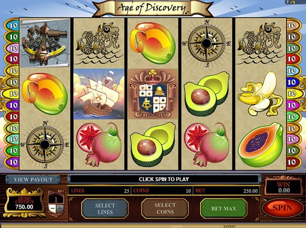 Age Of Discovery online Casino Spiel