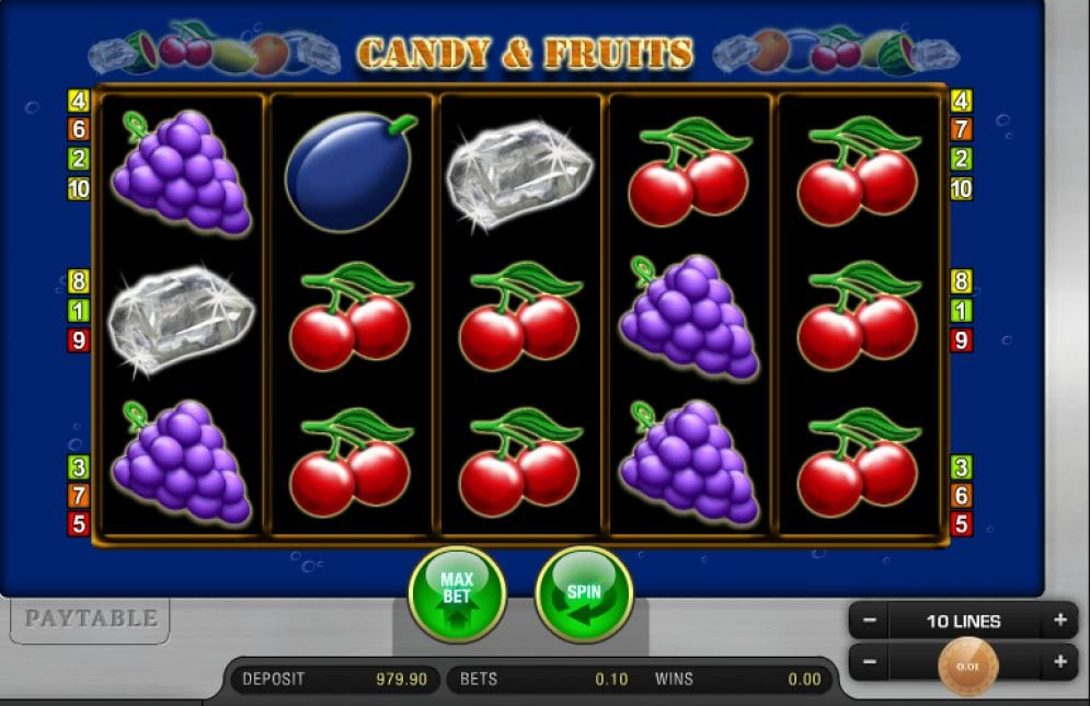 Candy and Fruits Videoslot