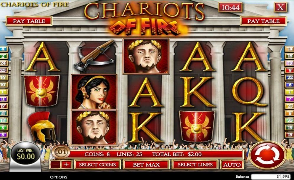 Chariots of Fire Video Slot