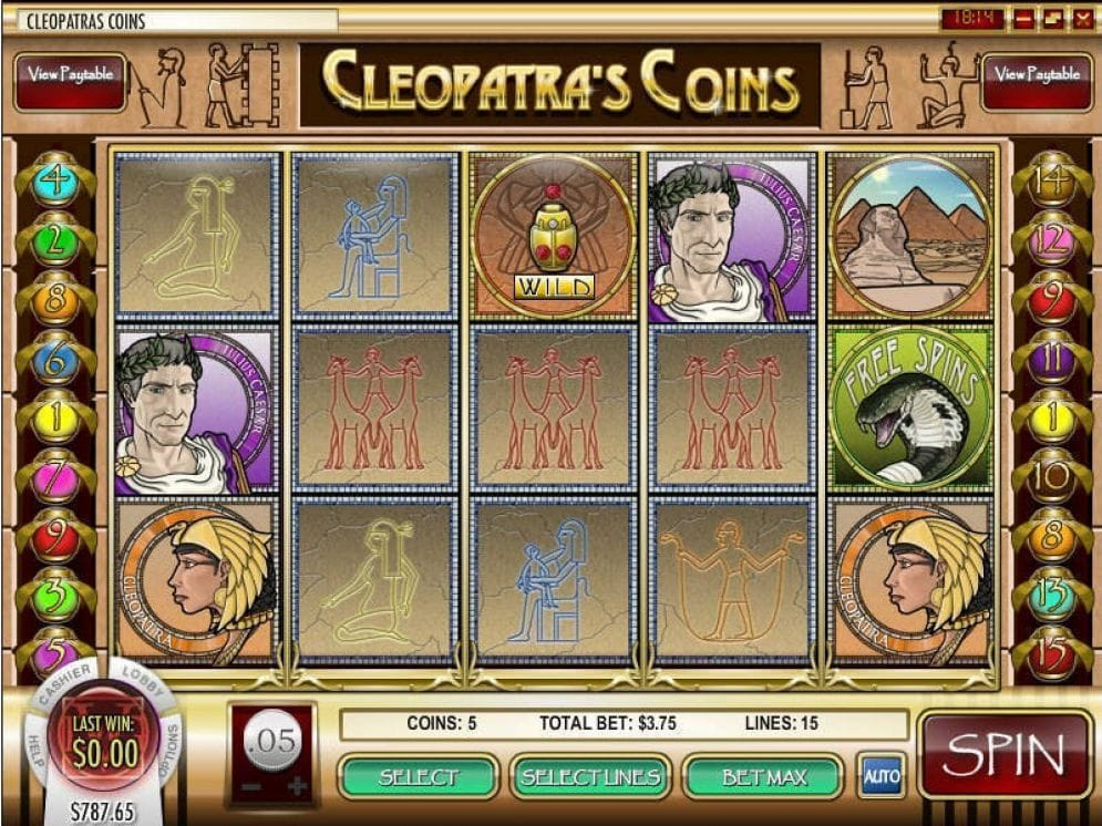 Cleopatra's Coins online Spielautomat