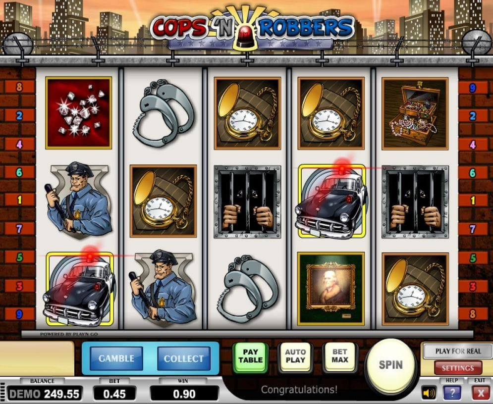 Cops And Robbers online Slotmaschine