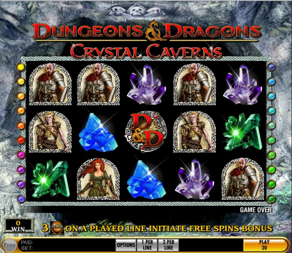 Dungeons and Dragons: Crystal Caverns Casinospiel