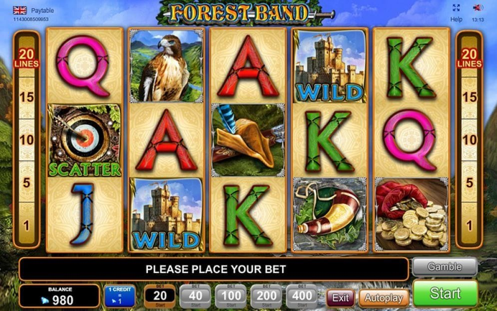 Forest Band online Spielautomat