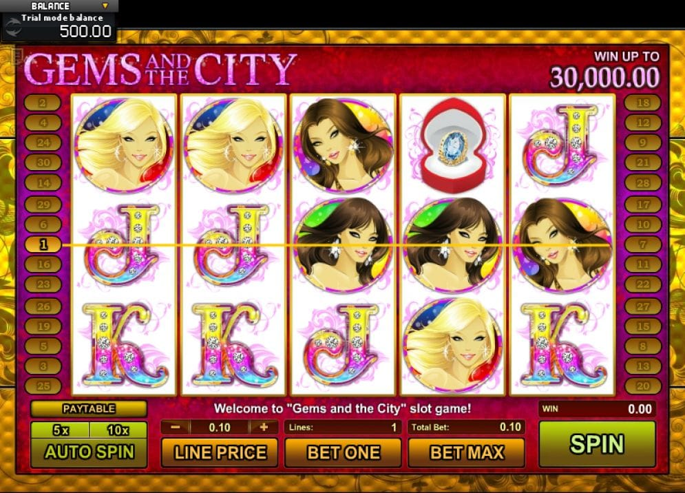 Gems and The City Spielautomat freispiel