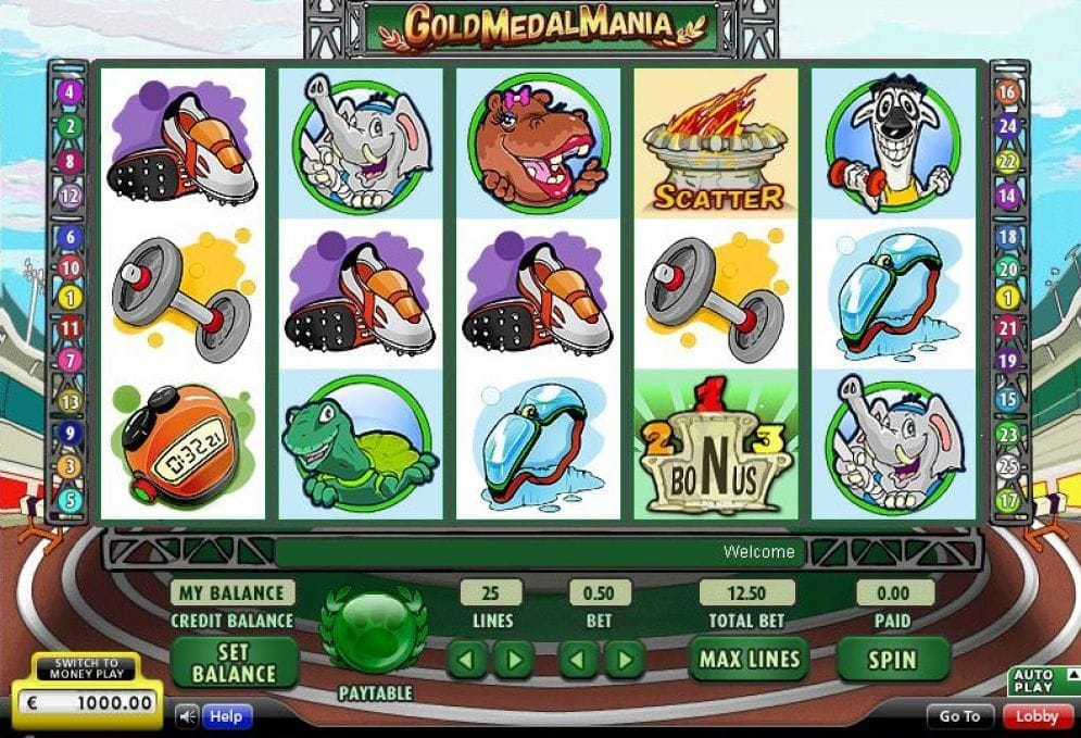 Gold Medal Mania online Spielautomat