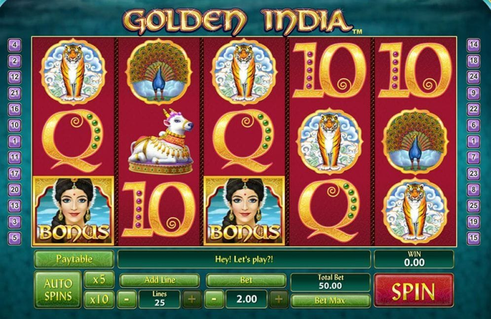 Golden India Automatenspiel freispiel