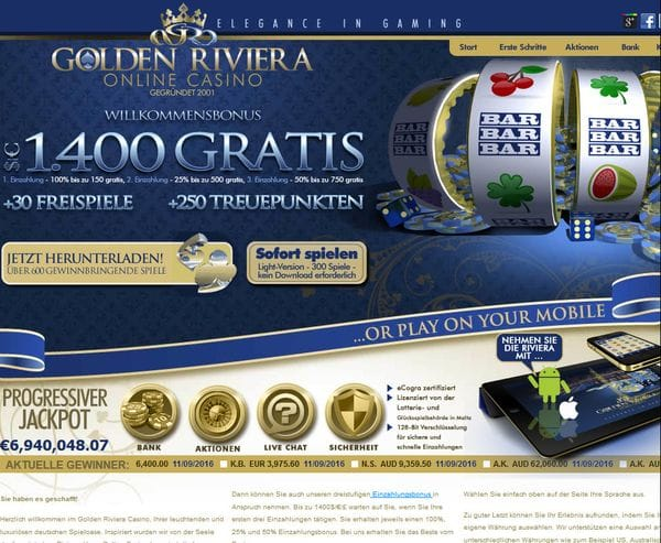 Golden Riviera Casino im Test