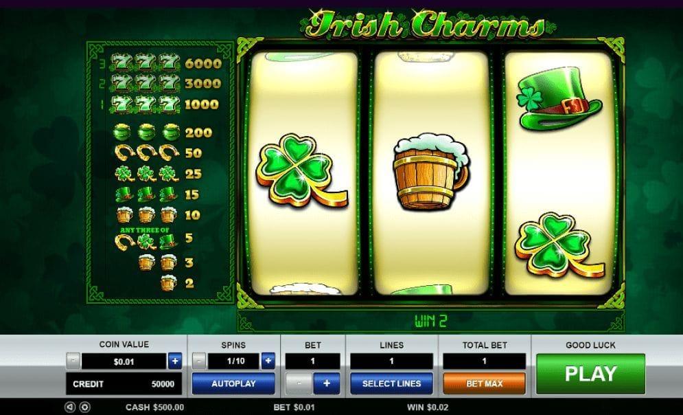 Irish Charms online Casino Spiel