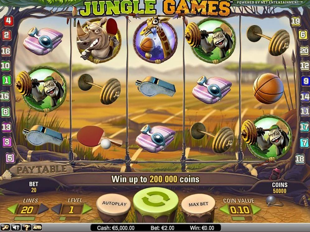 Jungle Games online Geldspielautomat