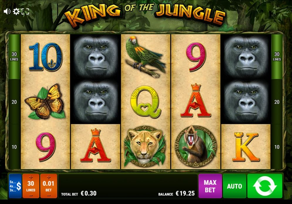 King of the Jungle Video Slot