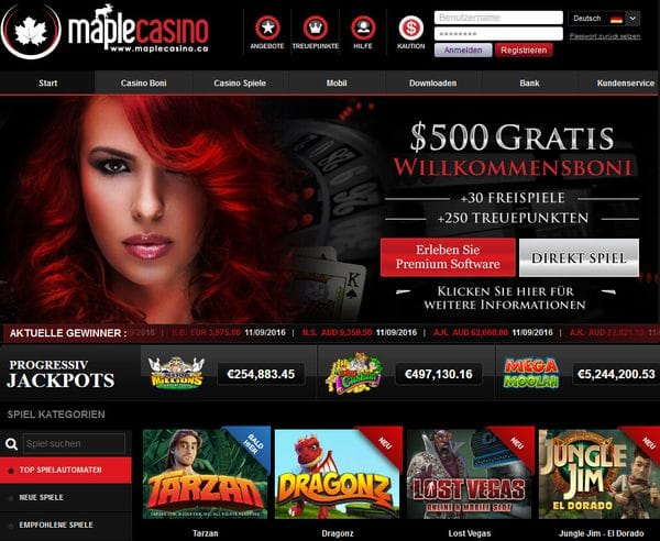 Maple Casino im Test