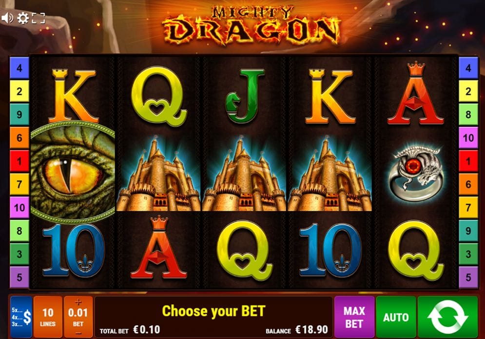 Mighty Dragon online Spielautomat