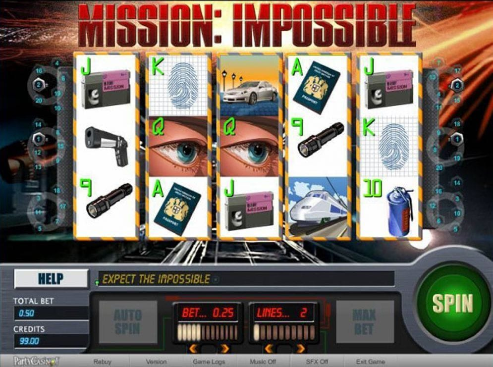 Mission: Impossible Slots Slotmaschine