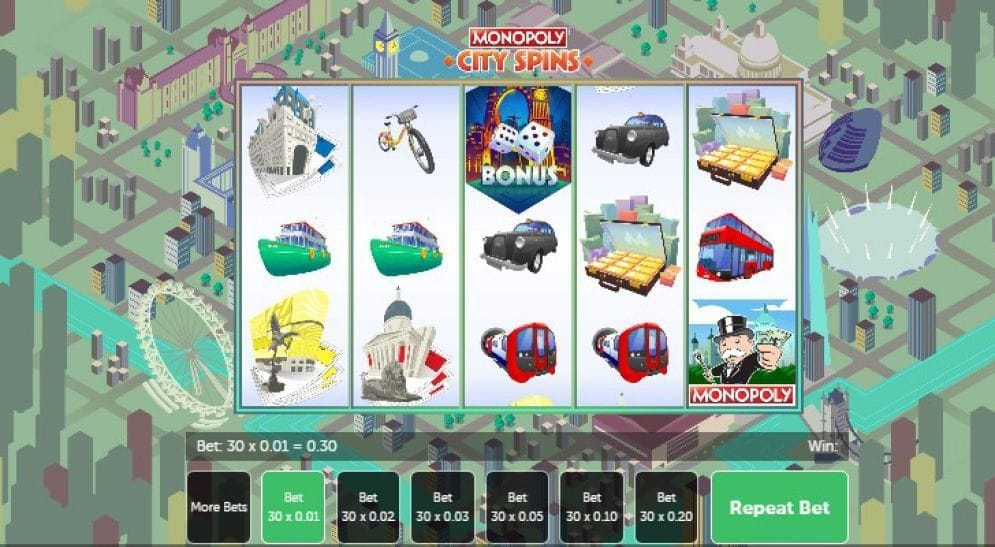 Monopoly City Spins Spielautomat