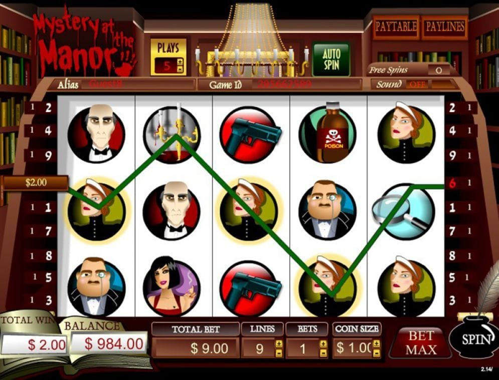 Mystery At The Manor online Video Slot