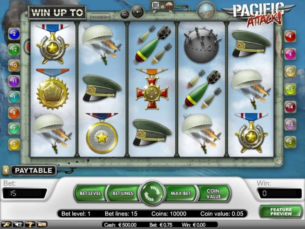 Pacific Attack online Video Slot