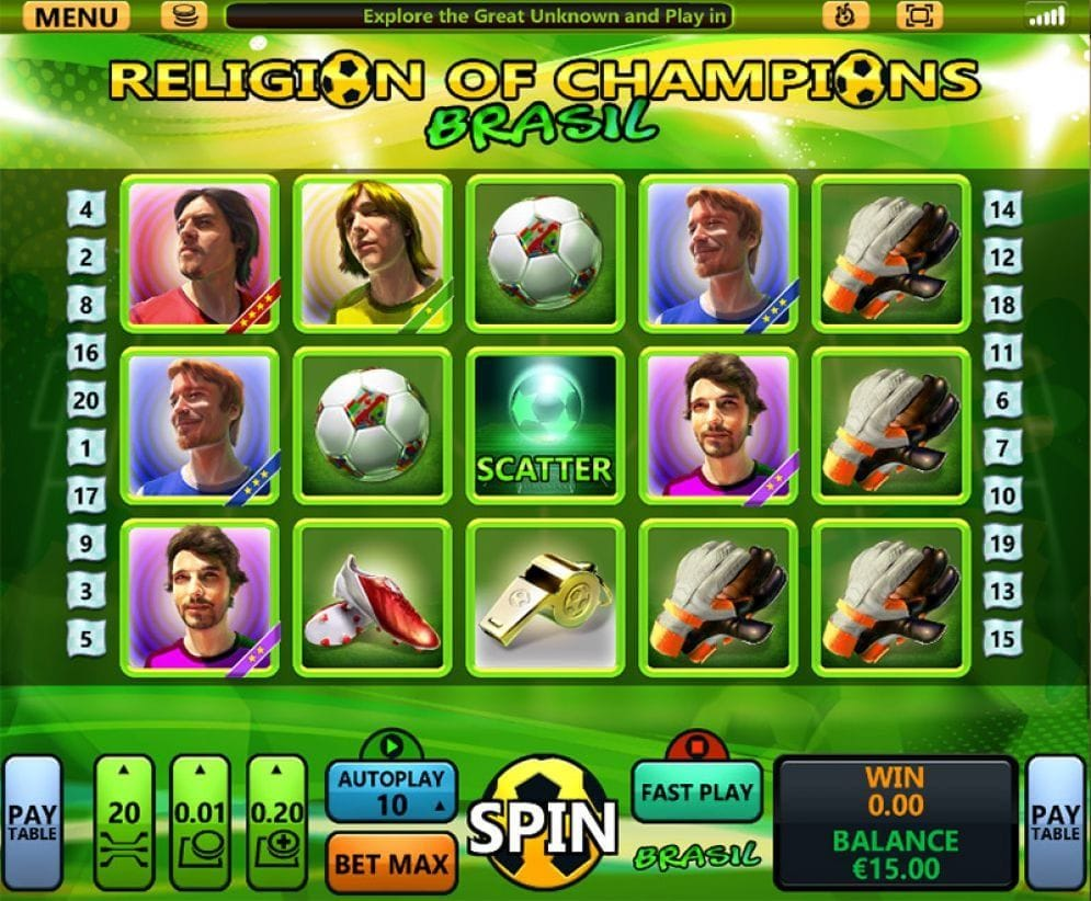 Religion of Champions Brasil Automatenspiel