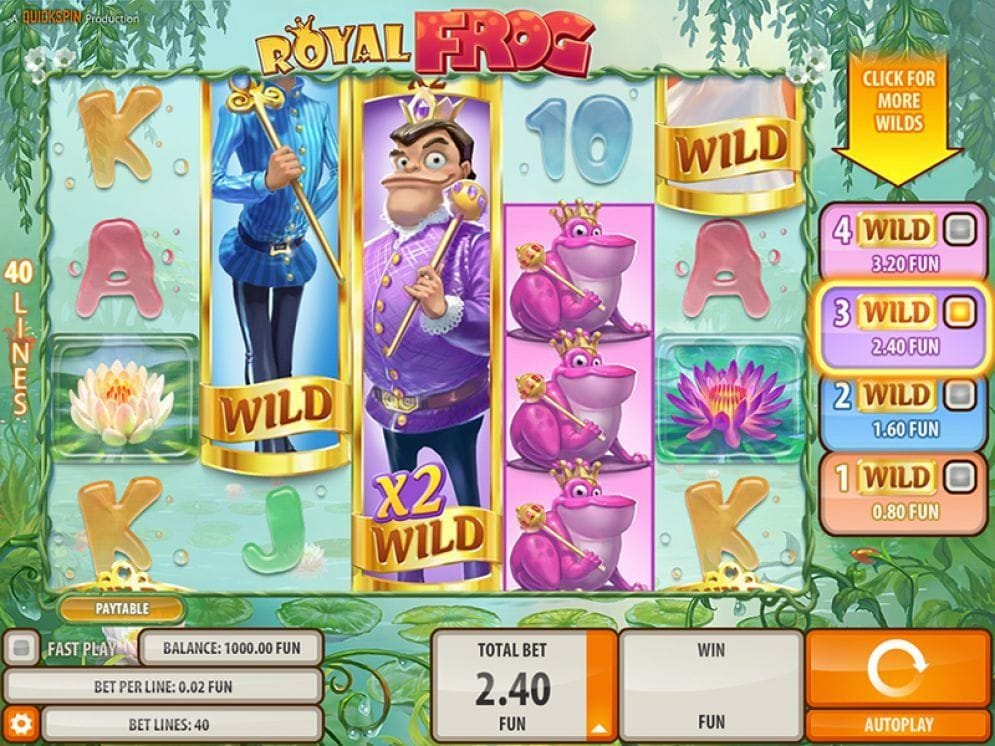Royal Frog online Slotmaschine