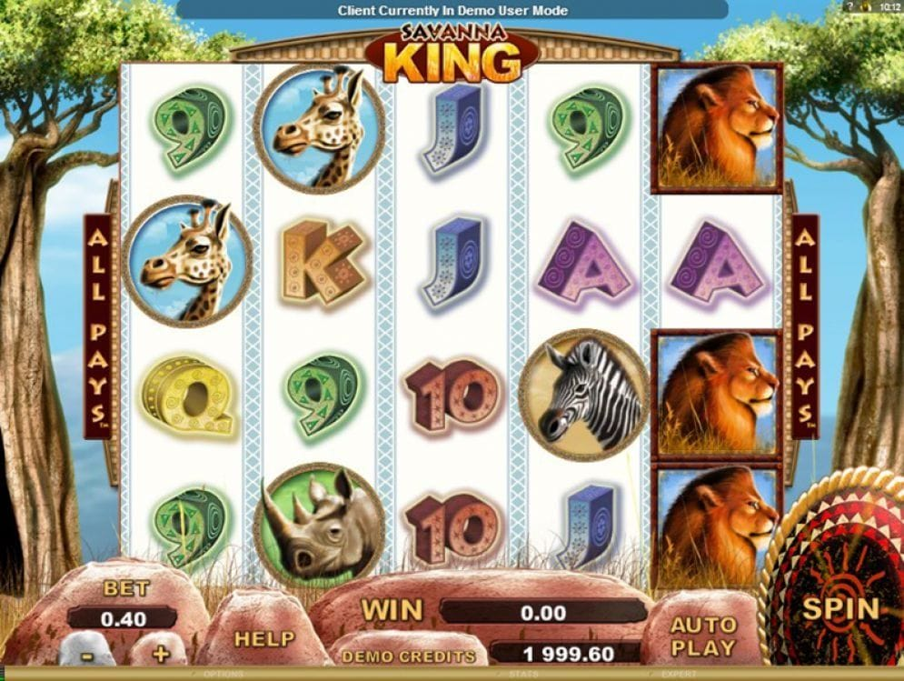 Savanna King online Spielautomat