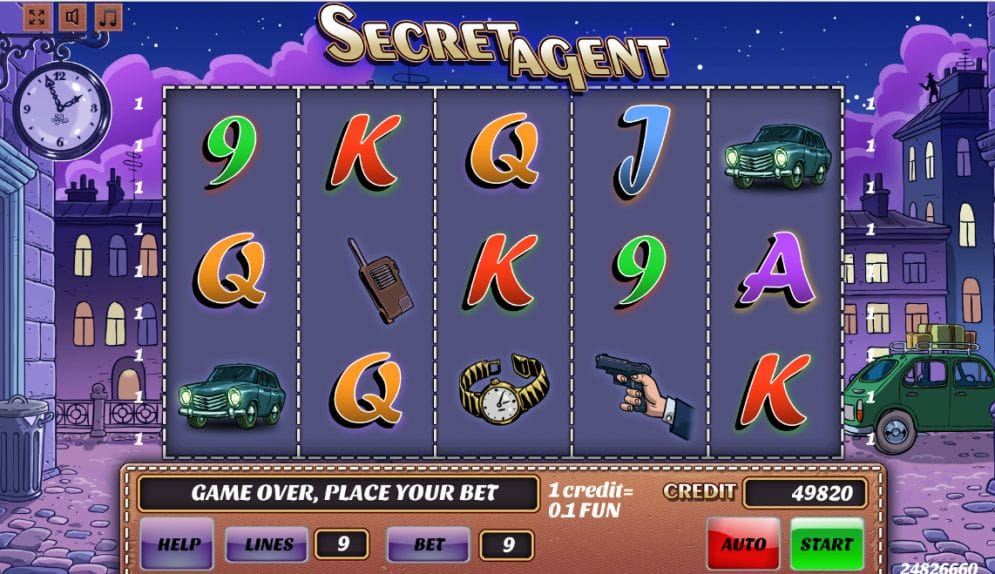 Secret Agent online Video Slot
