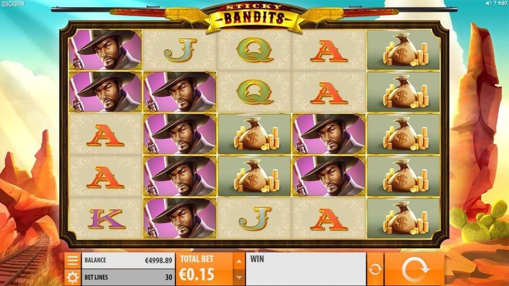 Sticky Bandits online Casinospiel