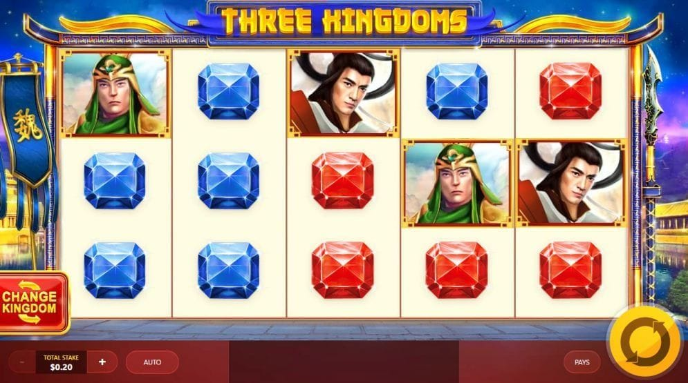 Three Kingdoms online Videoslot