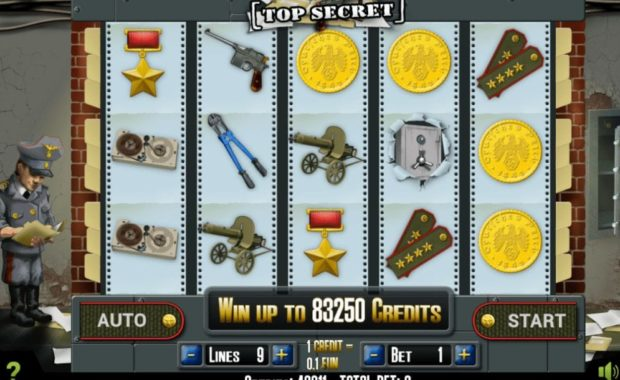 Top Secret Video Slot kostenlos spielen