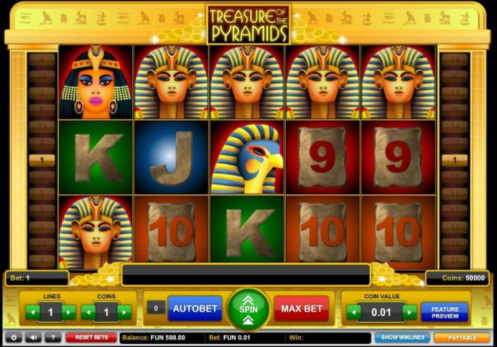 Treasure of the Pyramids online Video Slot
