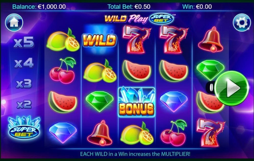 Wild Play Super Bet online Casinospiel