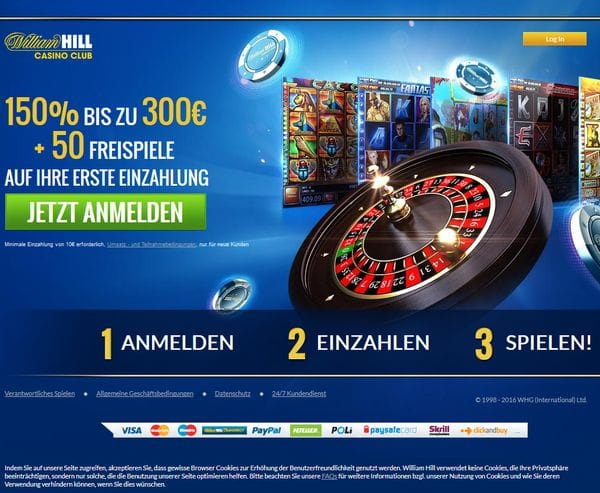 William Hill Casino Club Bewertung