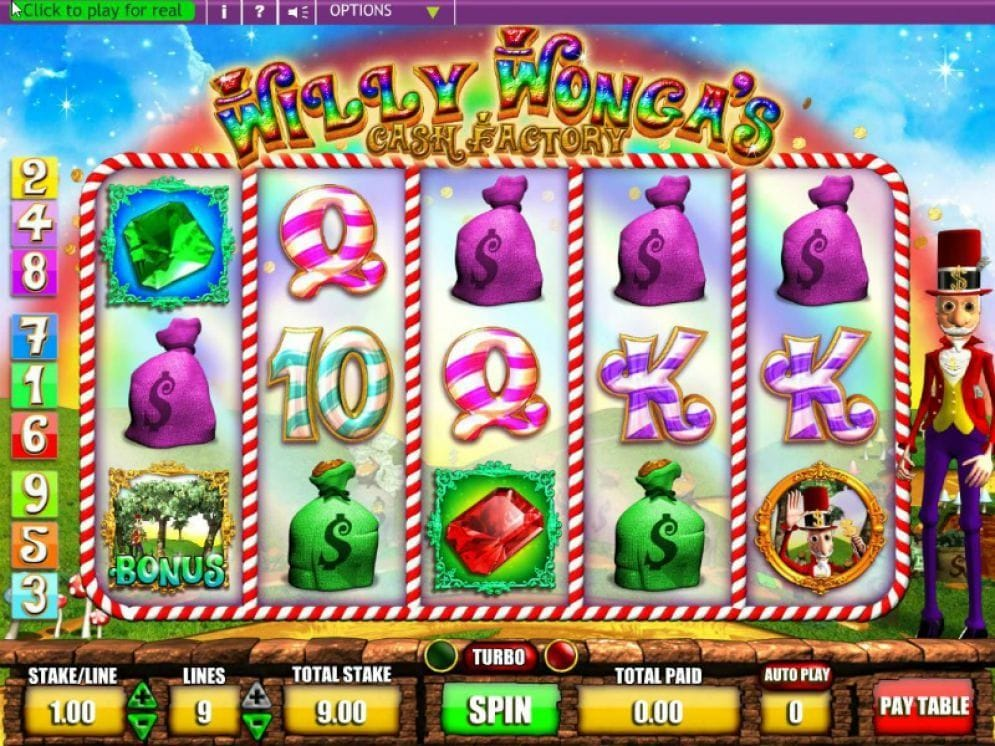 Willy Wonga's Cash Factory online Video Slot