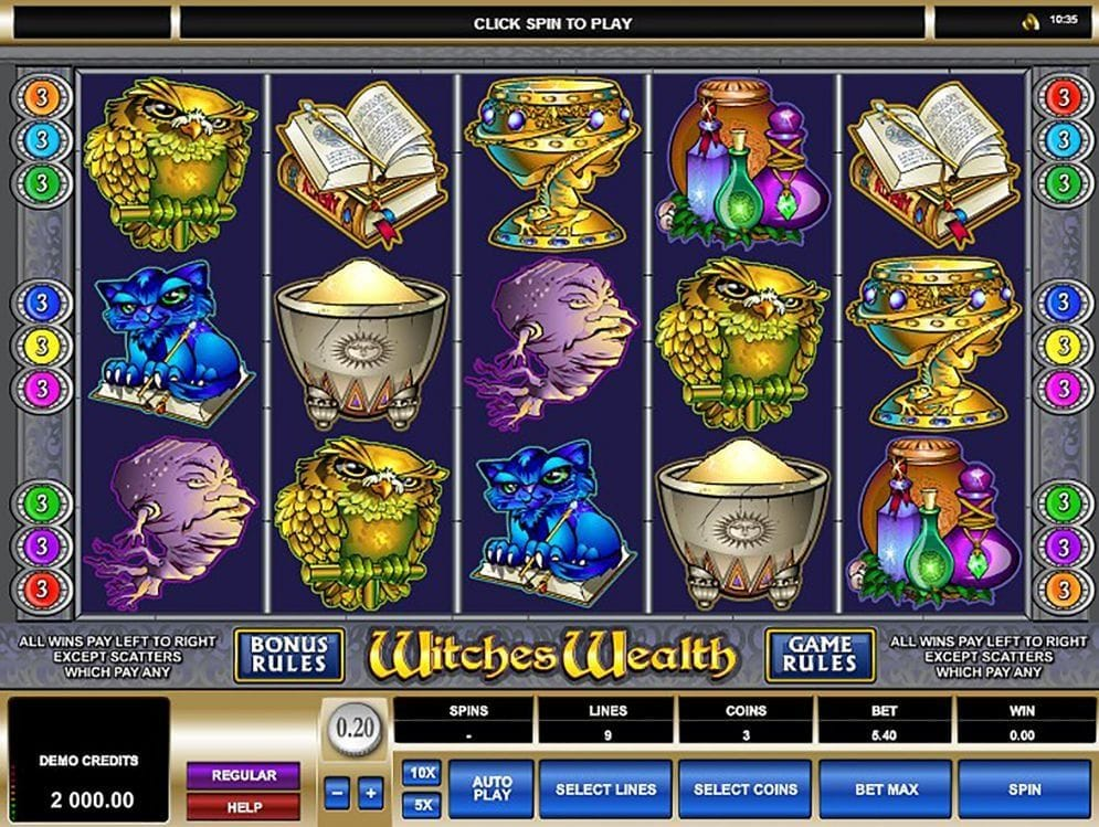 Witches Wealth online Casinospiel