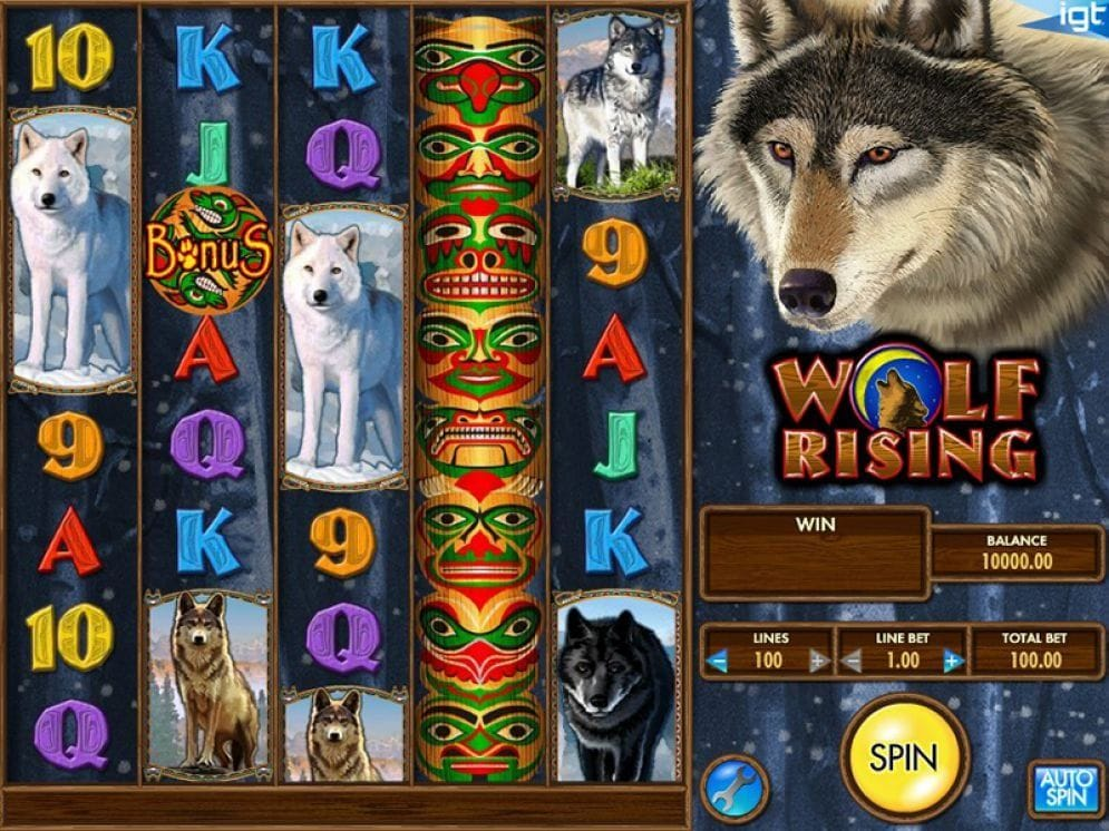 Wolf Rising online Video Slot
