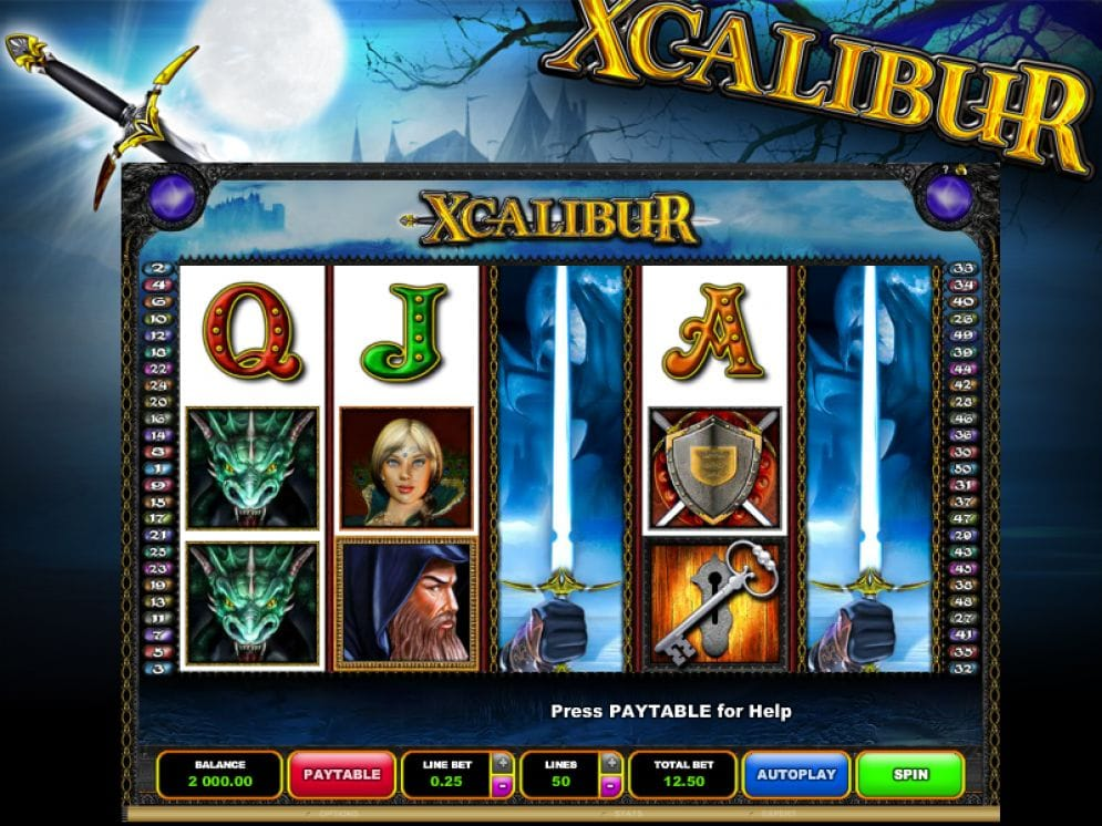 Xcalibur Video Slot
