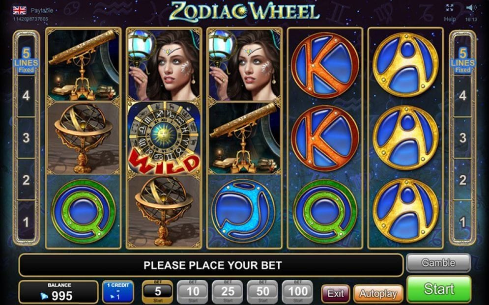Zodiac Wheel online Video Slot